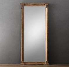 large mirror in dressing room