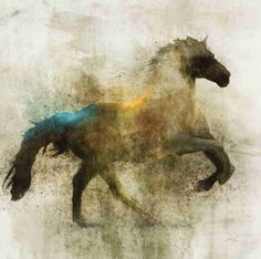 Lone Star 04 Giclee Fine Art Print by krokoart on Etsy Painted Pony, 3 Arts, Equine Art, Horse Pictures, Horse Art, Animal Paintings, Painting & Drawing, Knife Painting, Street Art