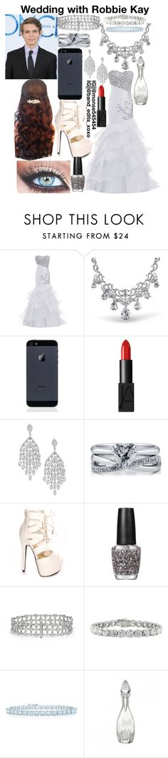 """Wedding with Robbie Kay"" by monse-salazar ❤ liked on Polyvore featuring Bling Jewelry, NARS Cosmetics, BERRICLE, OPI, Tiffany & Co. and Waterford"