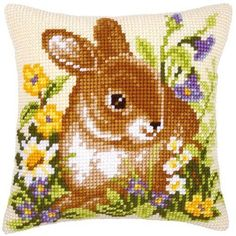Vervaco - Cross Stitch Cushion Front Kit - Bunny