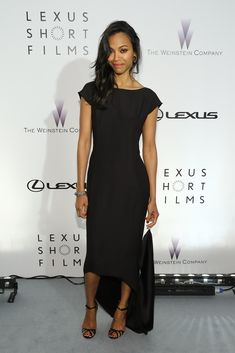 """Zoe Saldana attends the Lexus Short Film Series """"Life Is Amazing"""" presented by The Weinstein Company and Lexus at Olympia Theatre on May 19, 2013 in Cannes, France."""
