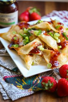 Brie wontons with strawberry-jalapeno jam, Our Best Bites