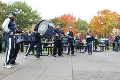 Go Blue Thunder!  The Seahawks drum line entertains Premera employees at a rally October 11, 2013.