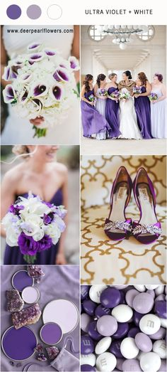 pantone wedding color 2018- Ultra violet ivory wedding color ideas / http://www.deerpearlflowers.com/ultra-violet-wedding-color-palette-idea/