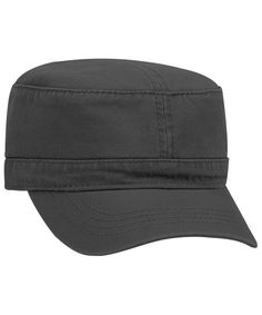 a565c82dd Otto Superior Garment Washed Cotton Twill Military Cap Black CQ187I84KLD