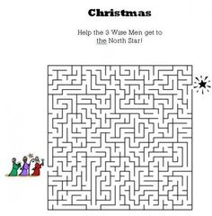 Kids Bible Worksheets-Free, Printable Christmas Maze