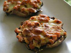 Cogumelos Portobello com Fiambre, Tomate e Mozzarella