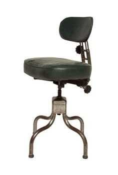1940's Adjustable Industrial Desk Chair by Evertaut