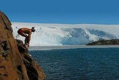 Swimming in Antarctica is only for people who have what it takes to swim in the subzero temperatures. Nonetheless the view would be astounding ;)