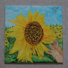 Connect to the sun ( sunflower ), acrylic painting and pasta