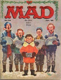 Mad Magazine No. 52, January 1960 - cover http://scottgronmark.blogspot.co.uk/2016/11/celebrating-mad-magazines-anarchic.html