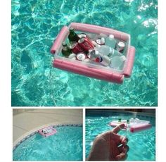 This is such a great idea. Now you can bring the cooler in the pool with you!