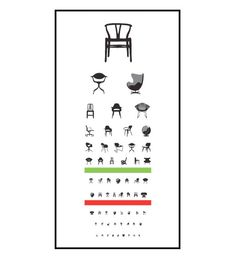 Chair eye exam print- third down on the left is the Navy Chair.  my very first chair love.