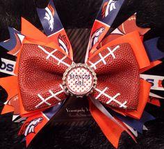 Broncos Football Bow