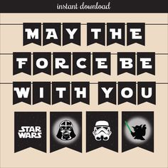 Star Wars Printable Banner ALL OCCASION - instant download by SomeFunPrints on Etsy https://www.etsy.com/listing/199658970/star-wars-printable-banner-all-occasion