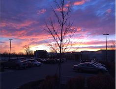 Photo of sky taken outside the library by Katy