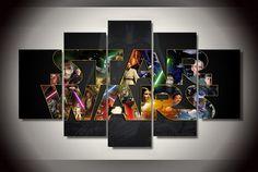 5 piece multi panel framed star wars millennium by octotreasures