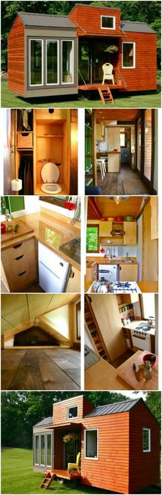 """This 130 Square Feet House May Be Tiny but It's Tall, Too! Free Plans - When it comes to tiny houses, they're typically not the best fit for anyone considered tall. But this tiny house built by Tiny House Design decided it was time to change that. At 21 feet long and 130 square feet inside, the ceilings have been customized to a height of 6'8"""" so our tall friends can easily move around this beautiful home."""