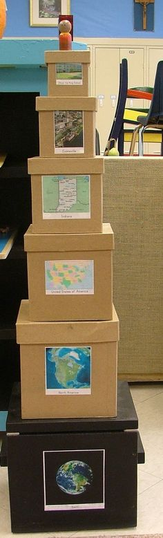 This map tower could be a great alternative to the Me on the Map activity!
