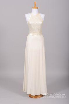 1970 Sequin Knit Vintage Wedding Gown , Vintage Wedding Dresses - 1970 Vintage, Mill Crest Vintage  - 1