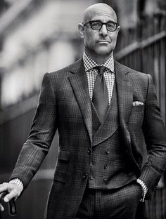 Checks on checks. Hell yes. Cifonelli 3 piece suits.