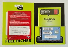 Authentic Straight Talk LTE ATT Compatible Original Uncut BringYourOwnPhone New Version Nano SIM Card for ATT Verizon Unlocked iPhone 5 ** For more information, visit image link.