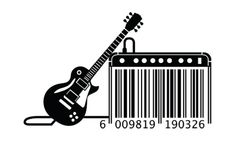 Creative barcode design with guitar