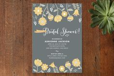Garden Whimsy Bridal Shower Invitations by Wendy Van Ryn at minted.com