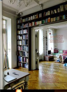Living room idea - Books and their homes.... source: the Fashion Spot