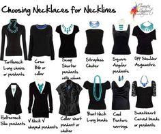 35+ Útil Roupa Hacks cada mulher deve saber -> Como escolher colares para trabalhar com o seu decote
