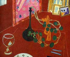"""THE BLUE LANTERN. """"The Red Studio"""" Henri Matisse. The Red Studio is a picture of his studio at Issey-les-Moulineaux,"""
