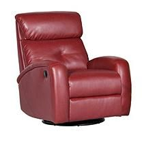 Shermag Sharon Motion Chair, Red Bonded Leather