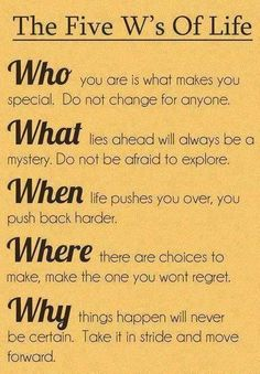 the 5 w's of life via 101 powerful affirmations