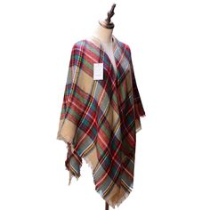 Women's Cozy Tartan Scarf Wrap Shawl Neck Stole Warm Plaid Checked Pashmina ** Find out more details by clicking the image : Best Travel accessories for women