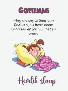 Goeie Nag, Afrikaans, Good Night, Qoutes, Words, Cats, Ideas, Nighty Night, Quotations