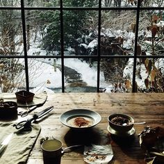7 Decorating Tips To Take From The New Danish Lifestyle Concept: Hygge Chalet Design, House Design, Ventana Windows, Window View, Through The Window, Cabins In The Woods, My Dream Home, Interior And Exterior, Interior Design