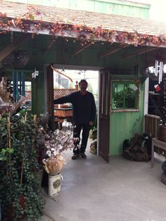 John built this gorgeous cabana for the garden centre. We love it!