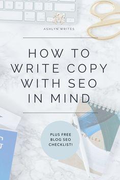 Copywriter SEO tips and tricks for creative entrepreneurs