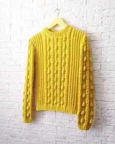 Knitting Designs, Knitting Stitches, Knitting Yarn, Knitting Projects, Knitwear Fashion, Knit Fashion, Crochet Girls, Knit Crochet, Bobble Stitch