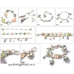 Beading Tutorial - Shabby chic inspired three strand bracelet