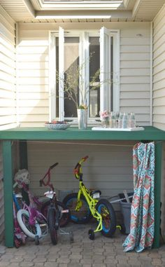 kids toy outdoor storage how to make a bike garage. celebrating outdoor living how to add function style and a casual space to relax.