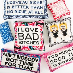A New Take on Needlepoint Pillows from Furbish Studio