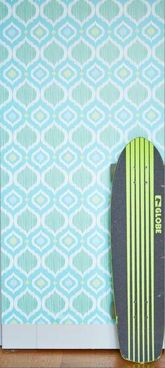 Holiday Sale - Branch Birds Blue Peel & Stick Fabric Wallpaper ... : toaletter modern : Inredning