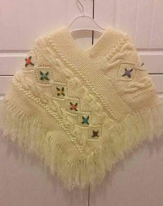 She& a nice model to suit our fancy girls. - Yıldız - - She& a nice model to suit our fancy girls. Crochet Baby Shawl, Crochet Poncho Patterns, Crochet Girls, Baby Knitting, Knitting Patterns, Toddler Poncho, Girls Poncho, Baby Poncho, Baby Scarf