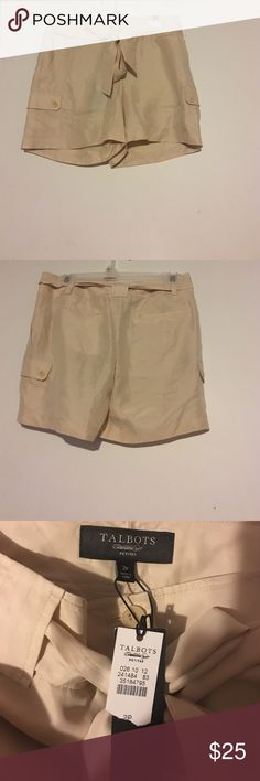 New Talbots silk shorts size 2 petite Gorgeous silk shorts size 2 petite, 100% silk, dry clean only, new with tags Talbots Shorts