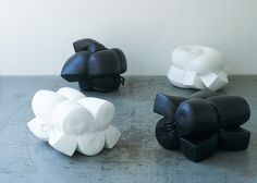 Foam dipped in rubber becomes seating by Jo Nagasaka for Ichiro Inc