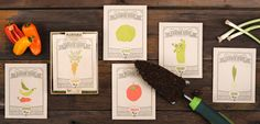 Six Garden-Themed Greeting Cards That Grow Vegetables When Planted