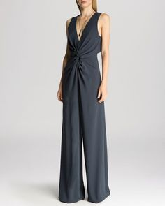 HALSTON HERITAGE Jumpsuit - Sleeveless Deep V-Neck Twist Detail from Bloomingdale's on Catalog Spree