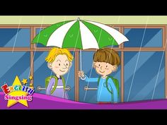 [Weather] It's raining. What color is it? - Easy Dialogue - English video for Kids - YouTube