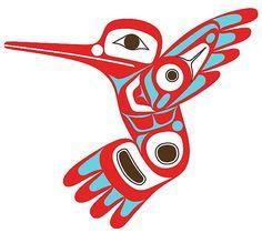 Hummingbird Tattoo Nation: Tsimshian Artist: Corey W. Moraes. Native American Art